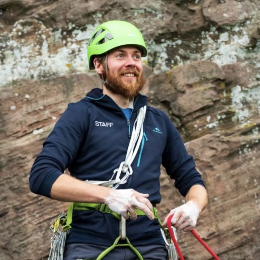 Instructor at the crag