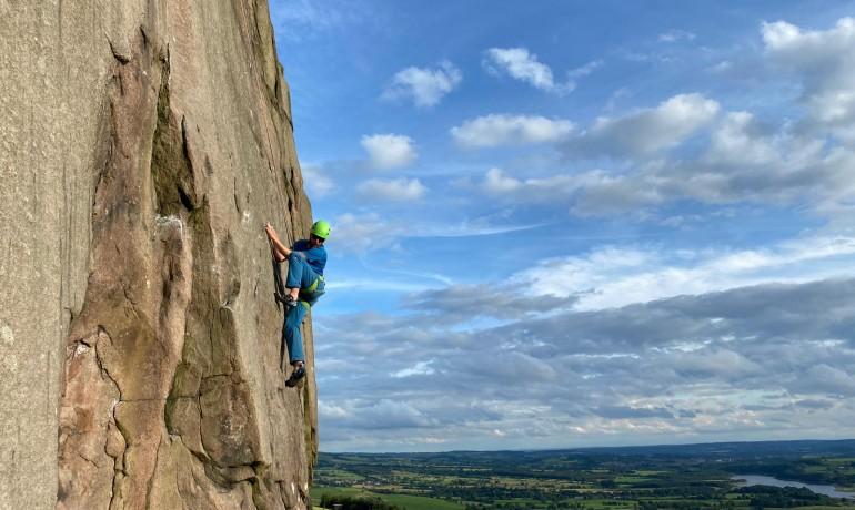Climbing School, climber on climb