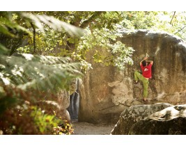 bouldering on rock